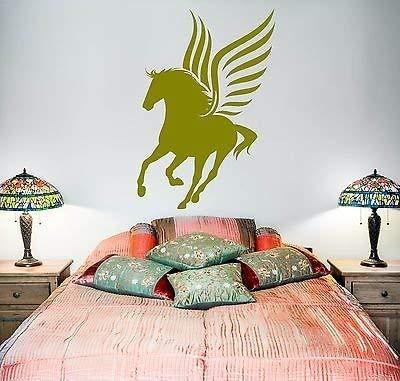 Wall Vinyl Fairytale Horse Wings Pegasus Mural Vinyl Decal VS3380