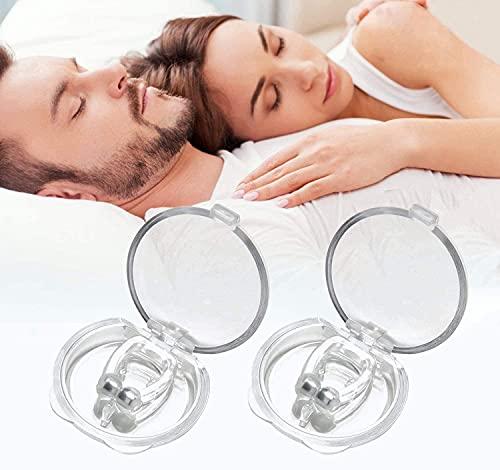 VIVNITS Snore Free Nose Clip Snore Stopper Silicone Magnetic Anti Snoring Device Nose Clip Unisex Stop Snoring Anti Snore Clip for Men Women