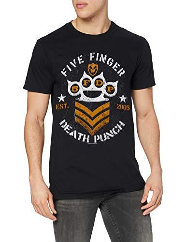 Five Finger Death Punch Herren Chevron T-Shirt, schwarz, M