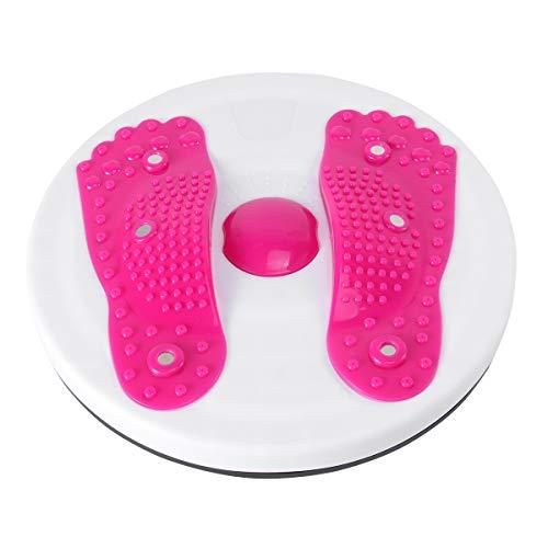 ABOOFAN Indoor Fitness Platte Twist Board Magnetteller Twist Disk Schlankheits Beine Fitnessgerät für Zuhause (rot)