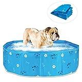Ponacat PVC Haustier Schwimmbad Tragbare Faltbare Pool Hunde Katzen Badewanne Badewanne Waschwanne Wasser Teich Pool Haustier Pool Kinderbecken