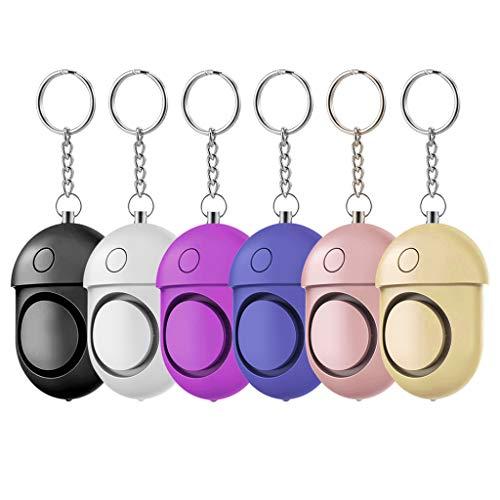 ZQQ Alarma Personal, 6Pcs 130DB Alarma De Seguridad con Llavero LED Silbato De Supervivencia De Luz para Autodefensa De Emergencia Femenina Ancianos Y Niños
