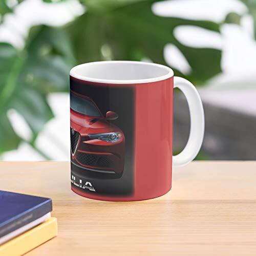 Alfa Romeo Mug Giulia Quadrifoglio Best 11 oz Kaffeebecher - Nespresso Tassen Kaffee Motive