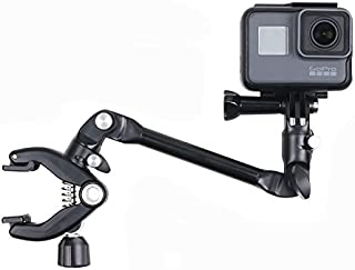 Thinvik Music Guitar Drum Mic Instrument Stand Mount Gooseneck Jaws Flex Clamp 360 Degree Rotation for GoPro Fusion Hero 7 6 5 4 3 Black Session