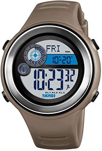JSL Multi-función de deportes electrónico reloj brújula calle beat reloj inteligente contador de paso electrónico reloj-café