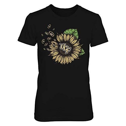 FanPrint UCF Knights T-Shirt - Sunflower and Football - Women