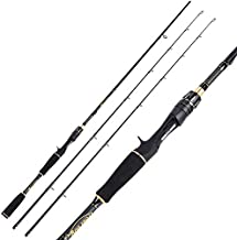 Sougayilang Casting Fishing Rod, Durable Lightweight Graphite Casting Rod, Sensitive Tournament Quality Casting Fishing Rod One Piece & Two Pieces Baitcast Rods(2 Pieces Casting Rod-1.8m/5.89ft)