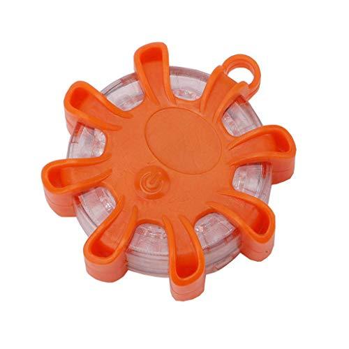 Klein LED Warnleuchten Warnlicht LED-Notlichter mit Magnet Rundum-Warnblinkleuchte für Notfälle Blinkende Sicherheitsleuchten für Fahrzeuge Auto LKW (Orange)