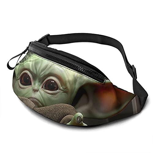 Baby Yoda Star The Wars Mandalorian Casual Riñonera Moda Hombres Mujeres Niños Adolescentes Bolsa Al Aire Libre Entrenamiento Viajar Casual Correr Senderismo Ciclismo