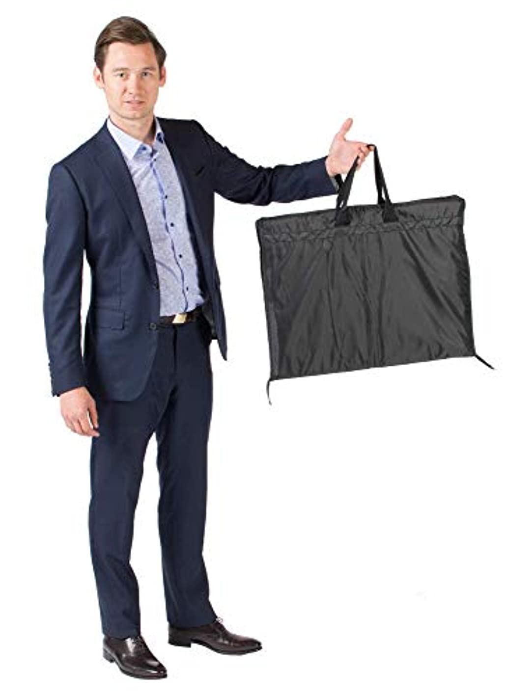 LORDS of WOOL Ultra Slim Carry-On Garment Bag that unzips to Garment Cover for Storage