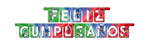 PJ Masks Guirnalda para decoración de fiestas (Verbetena 016001318)