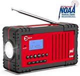 NOAA Weather Radio, Esky Upgraded 2200mAh Power Bank Emergency Radio with NOAA/AM/FM, Solar Hand Crank Radio LED Flashlight, SOS Alarm