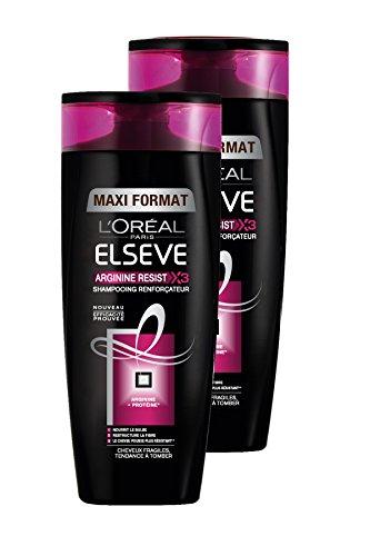 L'Oréal Paris Elsève Arginine Resist X3 Shampoo mit Verstärkung, 400 ml, 2 Stück