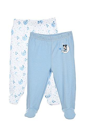 Set de 2 pantalons de naissance en coton bébé garçon, Bleu, 9 mois