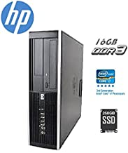 HP Elite 6300 SFF Small Form Factor Business Desktop Computer, Intel Quad-Core i7-3770 up to 3.9Ghz CPU, 16GB RAM, 256GB SSD, DVD, USB 3.0, Windows 10 Professional (Renewed)