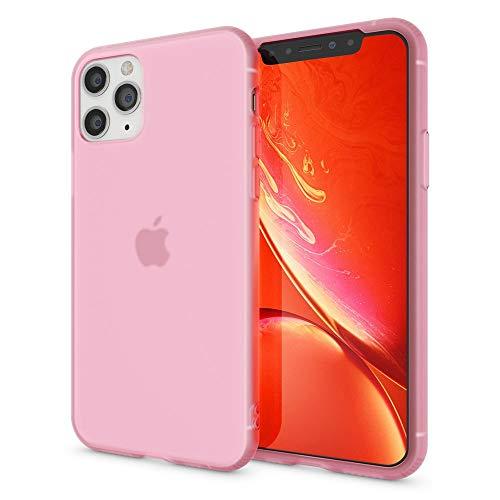 NALIA Silicona Carcasa Compatible con iPhone 11 Pro MAX Funda, Ultra-Fina Cubierta Protectora Transparente Bumper Resistente Telefono Case Cover, Bumper Proteccion Delgado Suave, Color:Pink Rosa