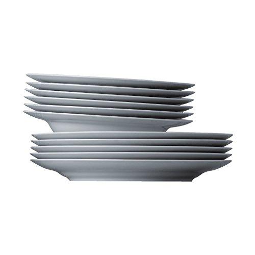 Service de Table Thomas Sunny Day, Set Vaisselle, Porcelaine, ROK-Weiß, Compatible Lave-Vaisselle, 12 Pièces, 18339