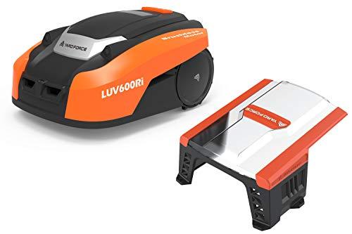 Yard Force Mähroboter LUV 600Ri bis zu 600 qm - Selbstfahrender Rasenmäher Roboter mit WLAN-Verbindung, App-Steuerung, iRadar Ultraschallsensor mit Garage