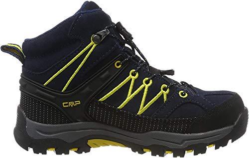 CMP Unisex-Kinder Kids Rigel Mid Shoe Wp Trekking- & Wanderstiefel, Blau (B.Blue-Zafferano 11nd), 37 EU