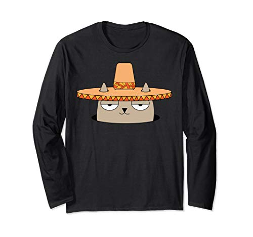 Gato con sombrero Long Sleeve Shirt