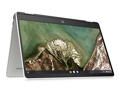 HP Chromebook x360 14-inch (35.56 cms) Thin & Light Touchscreen Laptop (AMD 3015CE/4GB/64GB eMMC Storage/Chrome OS/Mineral Silver/1.49 kg), 14a-cb0007AU