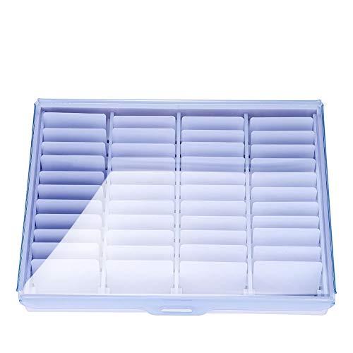 Boîte en strass - Boîte de rangement pour outils de manucure vide clair Nail Art Décoration