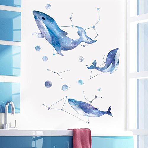 Wand-Aufkleber Murals lösbare Tapeten Borders Wandaufkleber selbstklebendes Blauwal Aufkleber Raum der Kinder kreative Persönlichkeit Wandaufkleber Schlafzimmer Wanddekoration Wohnzimmer Hintergrund W