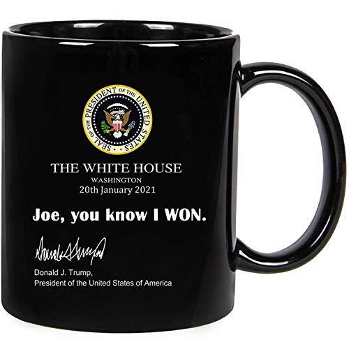 joe you know i won mug Funny Trump White House Note 2021 Ceramic novelty coffee mugs 11oz 15oz Tea Cup Funny Words Gift Present Mug for birthday Christmas Thanksgiving Festival