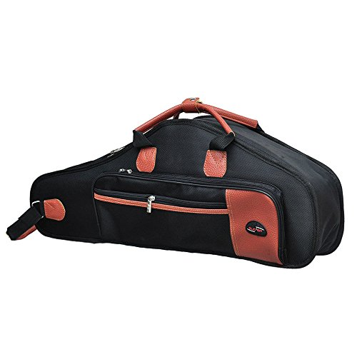 Andoer 1680d Saxophon-Tasche, wasserabweisend, Oxford-Stoff, gepolstert, Baumwolle, weich, Verstellbare Schultergurte, Tasche für Alt-Saxophon Oxford Cloth Bag - Black