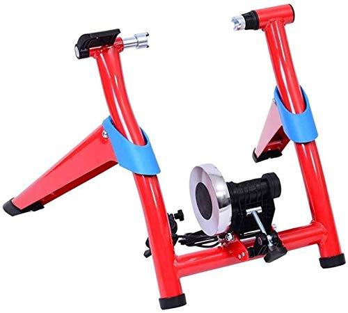 Fietstrainer Vouwfietsen Weg Mountainbiken Rijbediening Platform Training Internet Parkeerframe Magnetoresistief voor gebruik binnenshuis (Kleur: Rood Maat: One Size)(Upgrade)