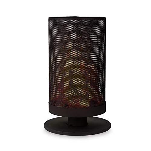blumfeldt Ithaka Feuerschale - Feuerkob aus Stahl, Outdoor Feuerstelle, Stabiler Stand, ideal für Schwedenfeuer, 37,5 cm Korb-Durchmesser, inkl. Ständer zum Aufstellen und Schürhaken, schwarz
