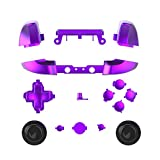 WPS Chrome Color ABXY Dpad Triggers Full Buttons Set Mod Kits for Newest Xbox One Slim/Xbox one S Controller with Screwdriver (Torx T6 T8) Set (Chrome Purple)