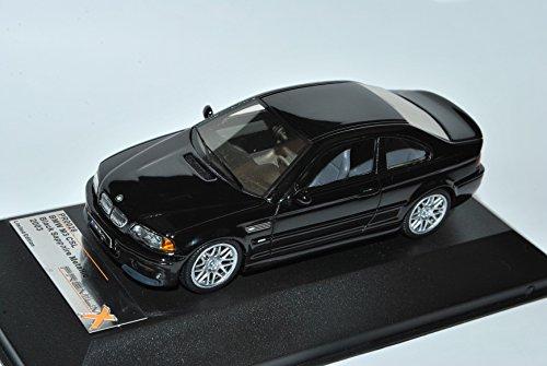 B-M-W 3er E46 M3 CSL Coupe Schwarz 1998-2007 1/43 PremiumX Modell Auto