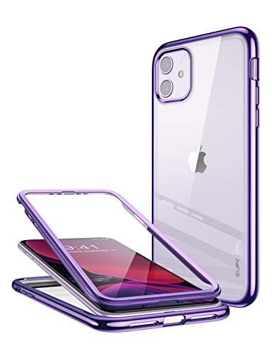 SupCase iPhone 11 Hülle TPU 360 Grad Handyhülle Weich Transparent Case Poliert Schutzhülle Slim Cover [Unicorn Beetle Electro] mit integriertem Displayschutz 6.1 Zoll 2019 Ausgabe (Lila)