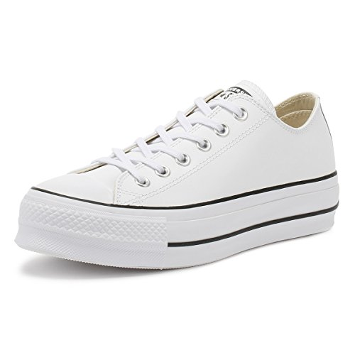 CONVERSE - CTAS Lift Clean OX 561680C - White Black, Tamaño:37 EU