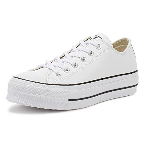 Converse - Ctas Lift Clean Ox 561680C - White Black, Taglia:37 EU