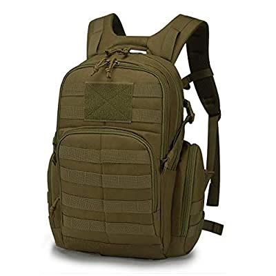 Mardingtop 25L Tactical Backpacks Molle Hiking daypacks for Motorcycle Camping Hiking Military Traveling 25L-Khaki