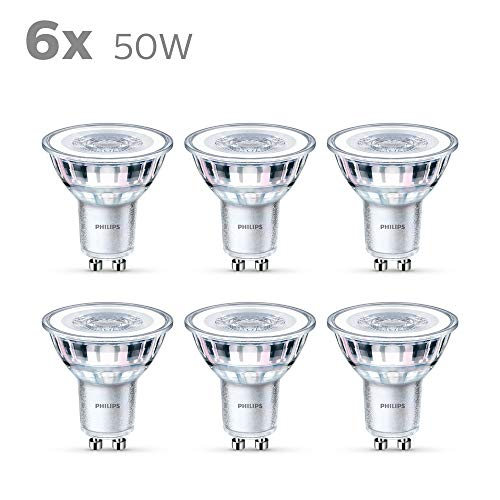 Philips LEDclassic Lampe 4,6 W ersetzt 50W, GU10, warmweiß, 355 Lumen, 6er Pack