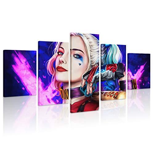 41fMskHDXtL Harley Quinn Canvas Wall Art