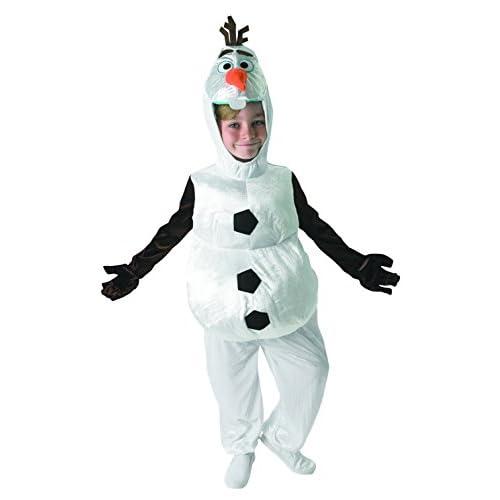 Rubie's Costume carnevale Olaf (Pupazzo di neve) da Frozen film Disney, Taglia Small 3 - 4 anni (104 cm)