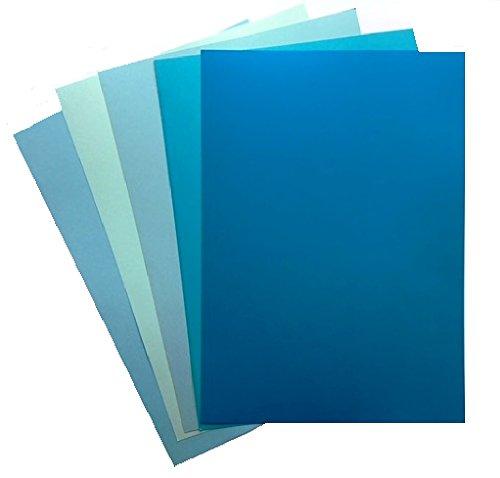 50 blaue Kartons von Dalton Manor in A4-Format, 160 g/m² (10 x 5 Farben)