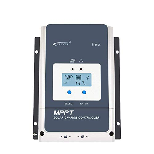 EPEVER 50A/60A/80A/100A MPPT Solar Charge Controller Tracer-an Series High-Power Charge Controllers Compatible with 12V/24V/34V/48V Lead-Acid and Lithium Batteries (50A)