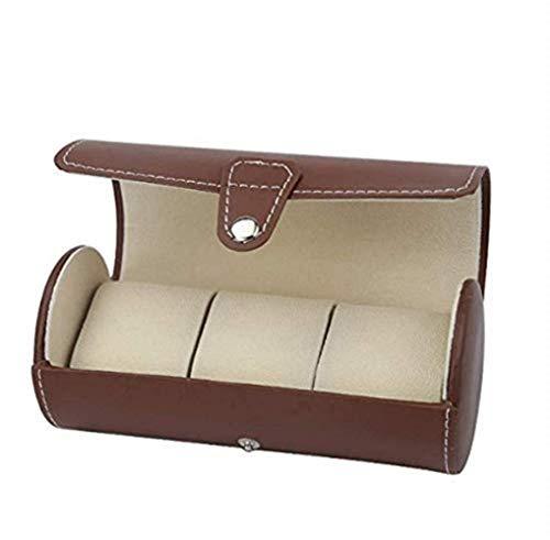 FGDSA Caja de Almacenamiento de Reloj Caja de Almacenamiento portátil de Viaje Caja de Almacenamiento cilíndrica Bolsa de Almacenamiento Caja de Almacenamiento de Moda