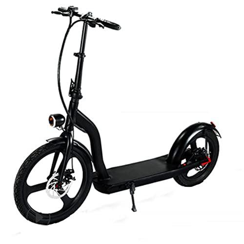 SMDD 36V Scooter eléctrico, 10Ah Scooters Plegables, 7 Horas Tiempo de Carga para Adultos Bicicleta de batería, Rueda Delantera de 20 Pulgadas, Bicicleta de la Rueda Trasera de 16 Pulgadas