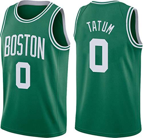 ATI-HSKJ Jayson Tatum 0# Trikots, NBA Boston Celtics Herren Basketballkleidung Coole Atmungsaktive Stoff Swingman Ärmellose Weste Top Kleidung,M