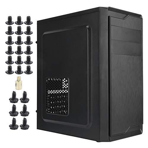 Caja de la computadora, Accesorios de computadora de Escritorio duraderos Negros, Robusto y Conveniente Simple para computadora de Escritorio