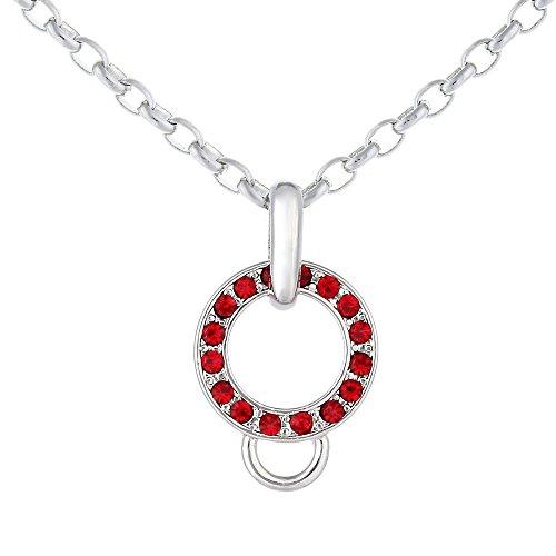 Morella Collar Charms de Acero Inoxidable 70 cm con Piedras de circonita, en Bolsa de Terciopelo