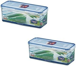 Lock&Lock HPL844 Tall Short Food Container 2.0L w/ Tray (x2)