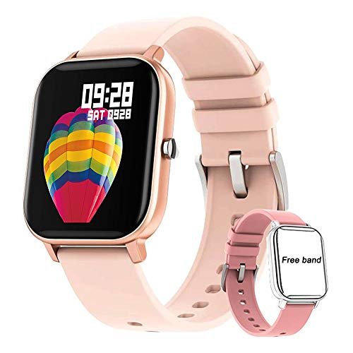 chebao, Reloj inteligente, smartwatches, P8 1.4 pulgadas Touch Smart Bracelet Monitor de ritmo cardíaco Fitness Tracker (dorado)