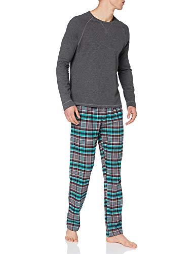 ESPRIT Bodywear Herren XHANTY NW OCS Pyjama Longsleeve Pyjamaset, Anthracite (010), S